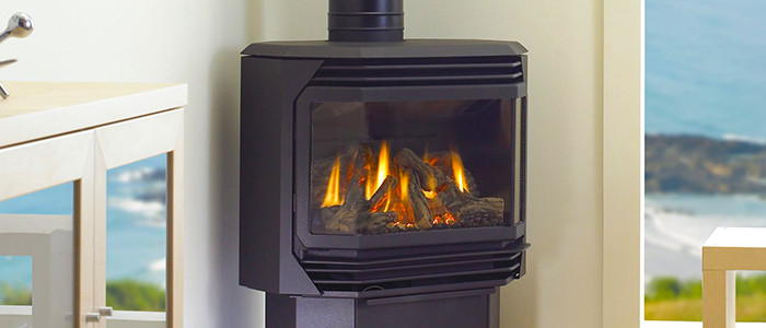 Flued gas heater