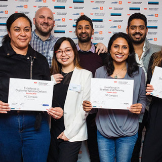 NZ Compare recognised for excellence in the Westpac Auckland Business Awards